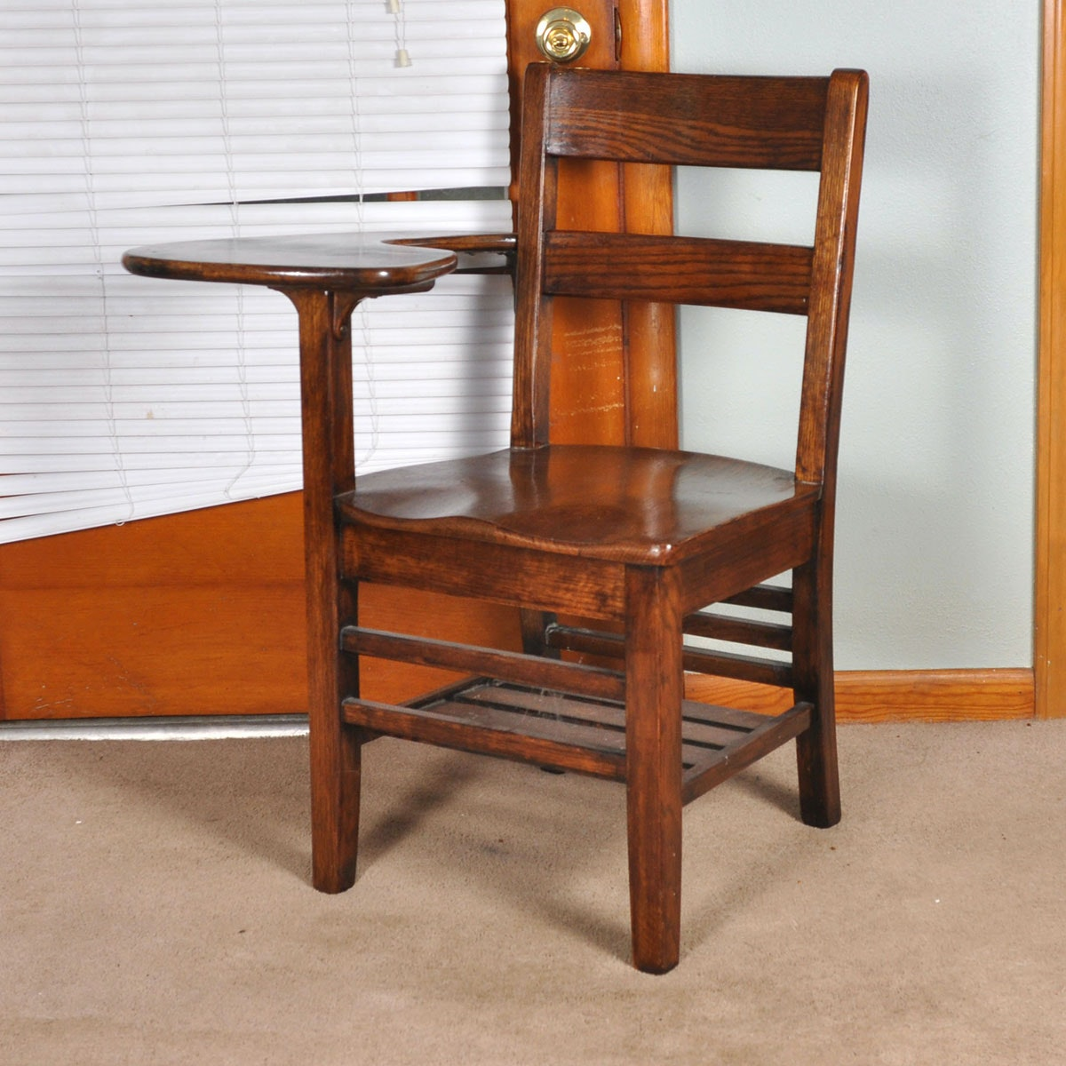 Vintage Solid Oak Desk Chair by Tell City Chair Company
