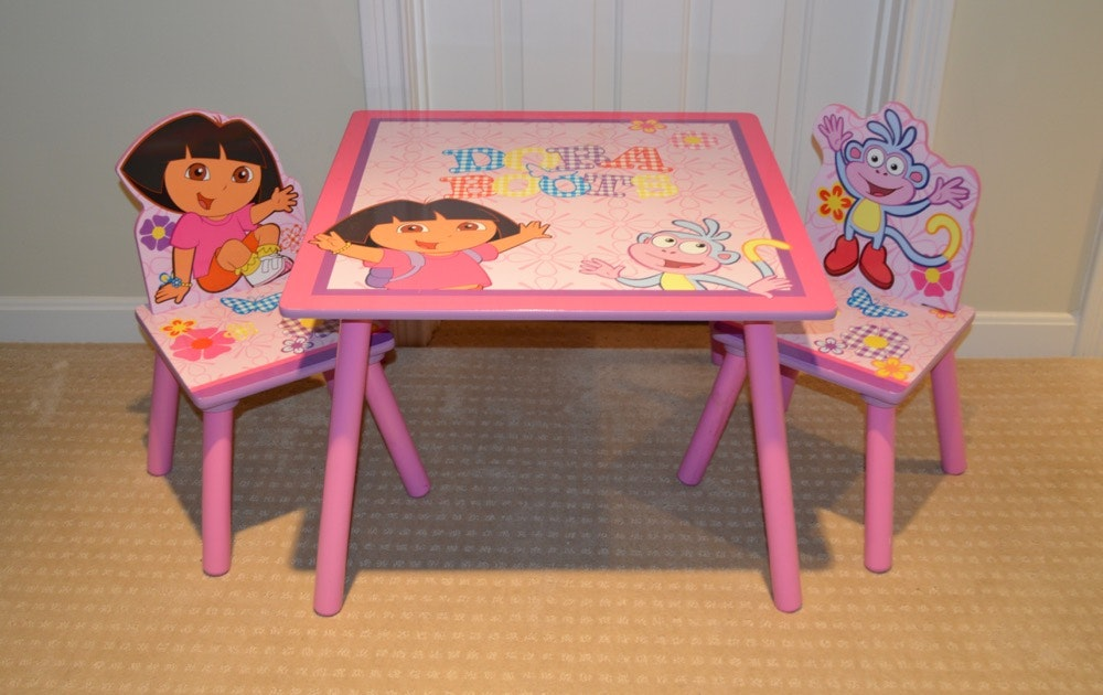 Dora The Explorer Child S Table And Chair Set Ebth