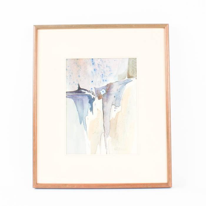 "William R. Brooks Original Watercolor ""Ascending Blues"""