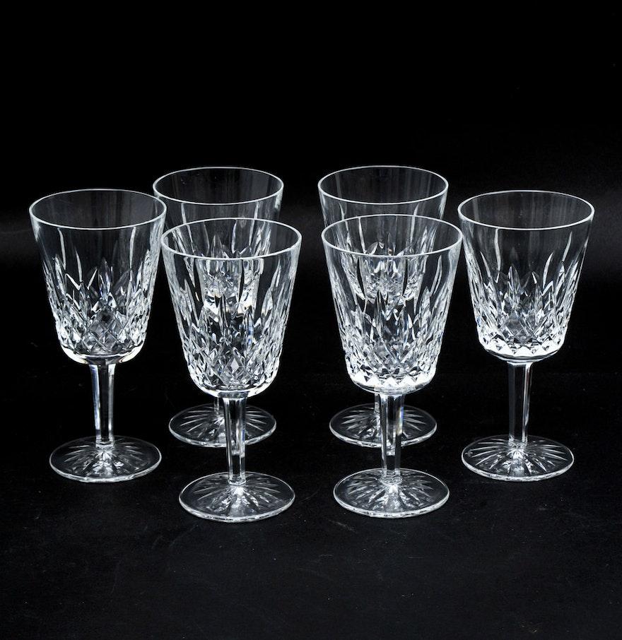 "Waterford ""Lismore"" Crystal Wine Glasses : EBTH"