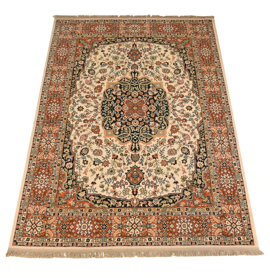 Persian Style Wool Area Rug Ebth: Persian Style Wool Area Rug : EBTH