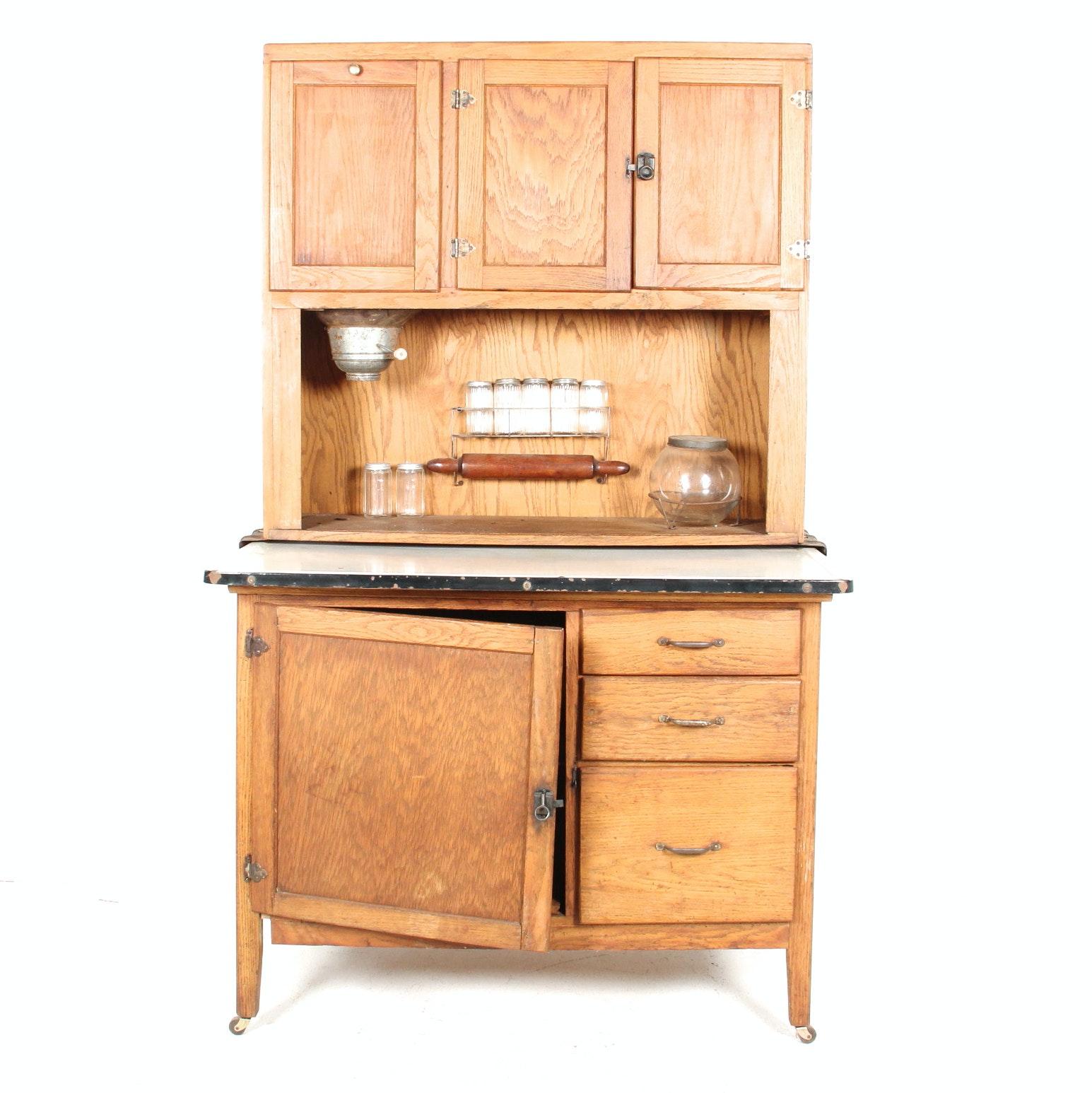 antique hoosier cabinet ebth