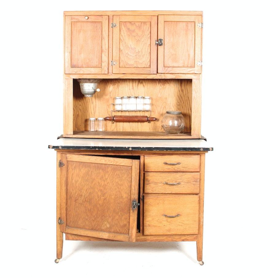 Wilson Kitchen Cabinet Hoosier Antique Hoosier Cabinet Ebth