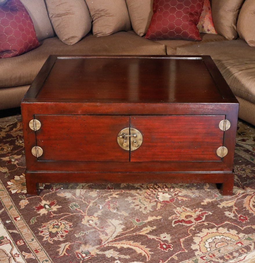 Chinese Hardwood Trunk Style Coffee Table Ebth