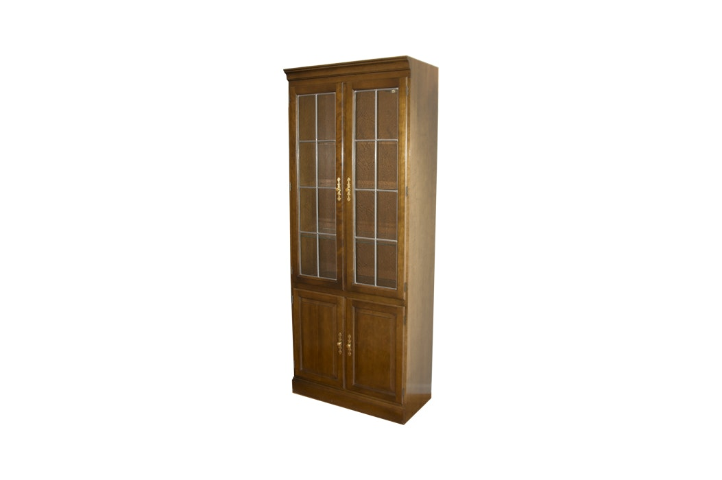 Stickley Furniture Cherry Lighted Display Cabinet ...