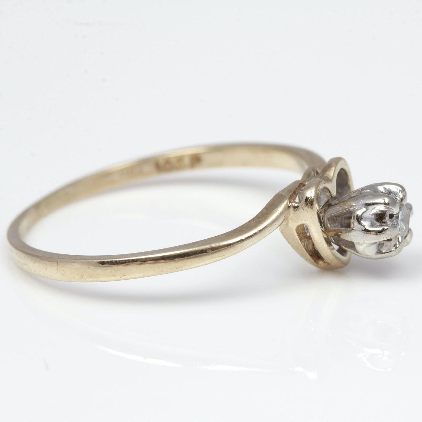 Heart Diamond Ring Offset