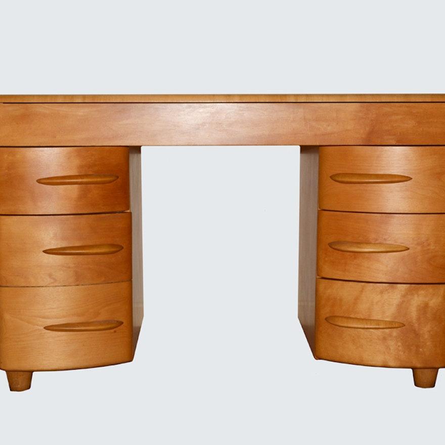 Mid Century Modern Kneehole Desk