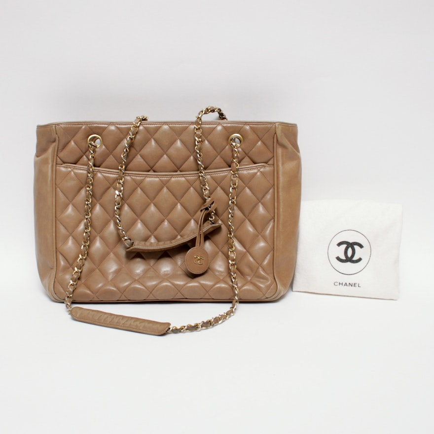 4da63fe81f6539 Vintage Chanel Classic Quilted Tote Bag : EBTH