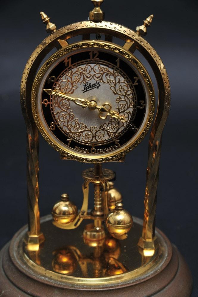 Vintage Original Schatz Brass Torsion Pendulum Clock Ebth