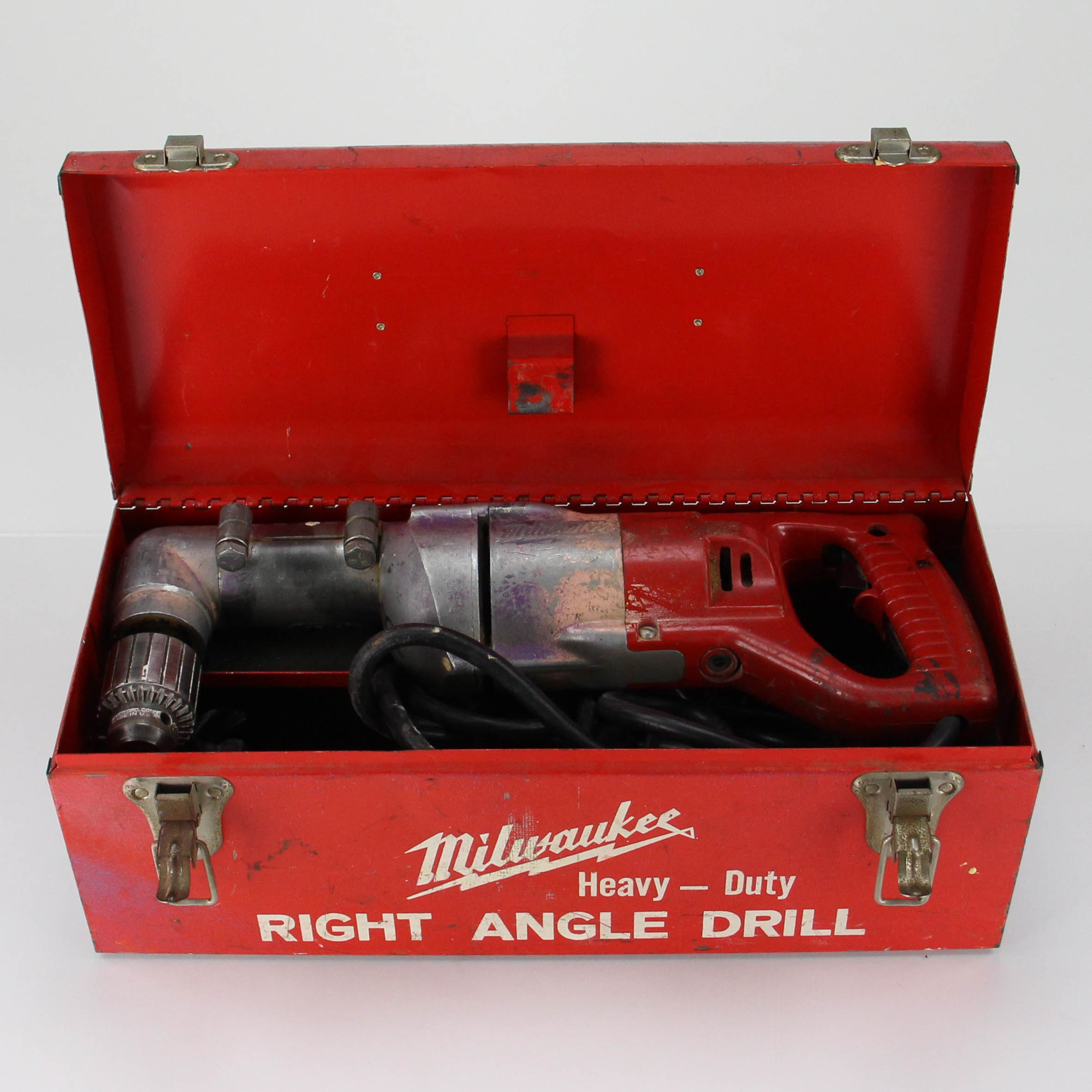 Milwaukee Right Angle Drill with Tool Box