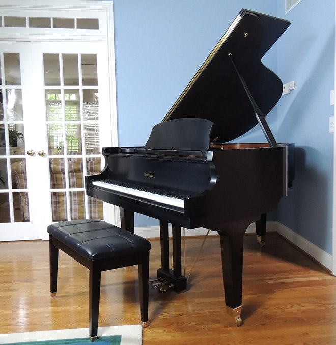 Wurlitzer Baby Grand Piano with Bench