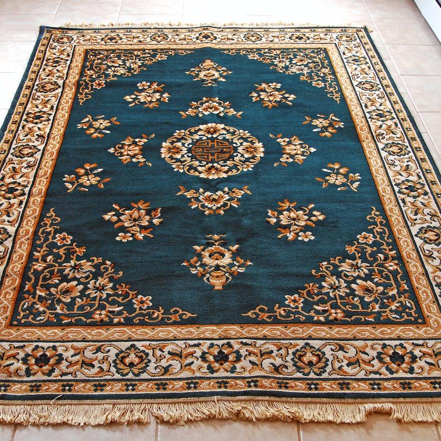 Persian Hand Woven Bakhtiari Style Wool Area Rug Ebth: Machine Loomed Oriental Rug