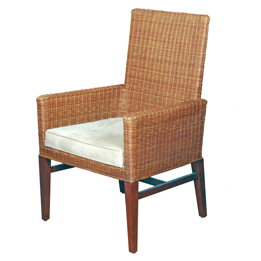 Ethan Allen Rattan Side Chair