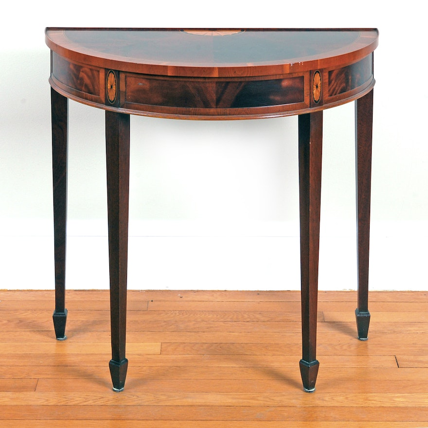 Copley Place By Hekman Flame Mahogany Demilune Console Table