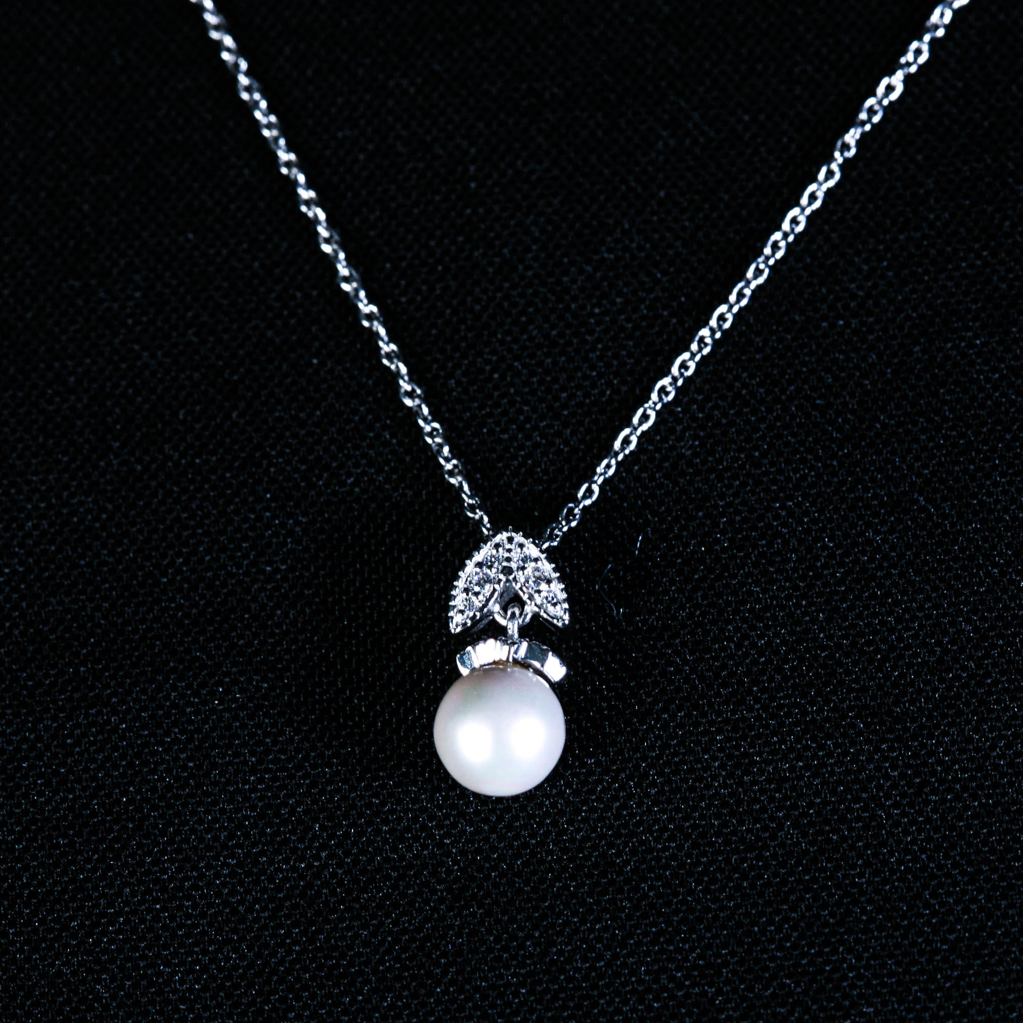 sterling silver pearl and pendant necklace ebth