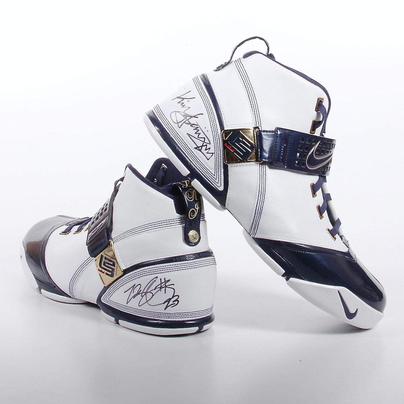 Autographed LeBron James Shoes