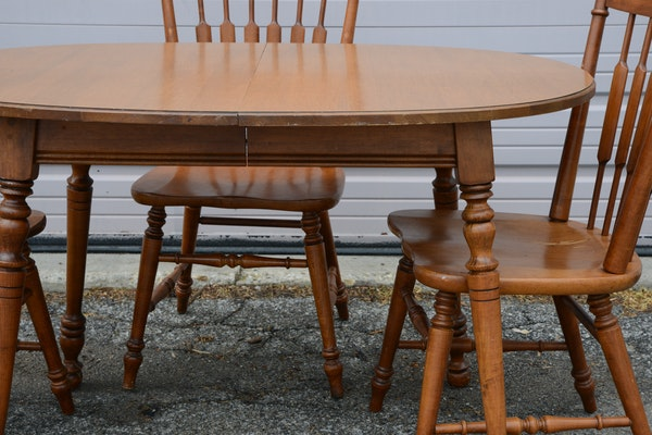 Vintage Tell City Quot Andover Quot Rock Maple Dining Table And