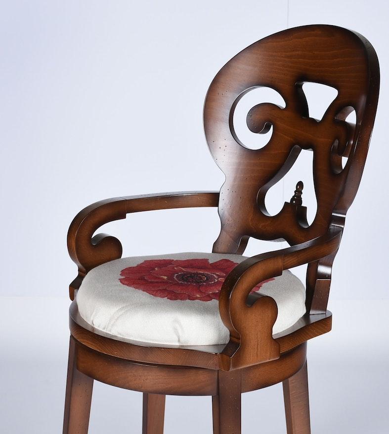 Arhaus Furniture Swivel Bar Stool Chair Ebth