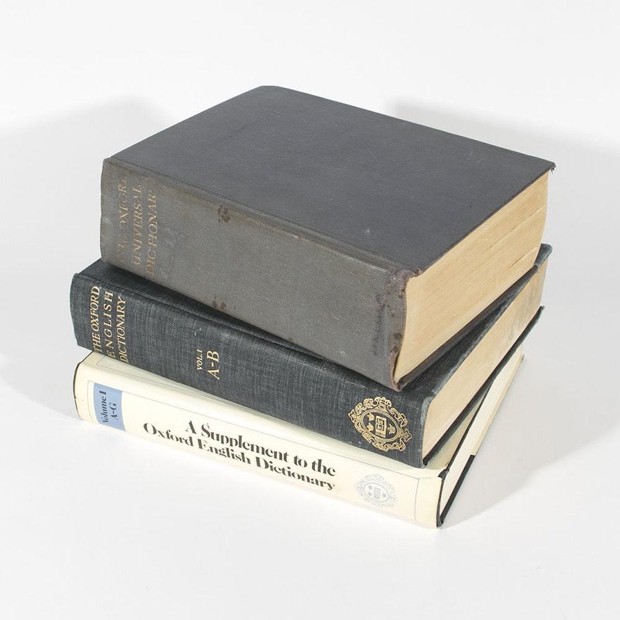 Vintage Unabridged Oxford English Dictionary Full Set