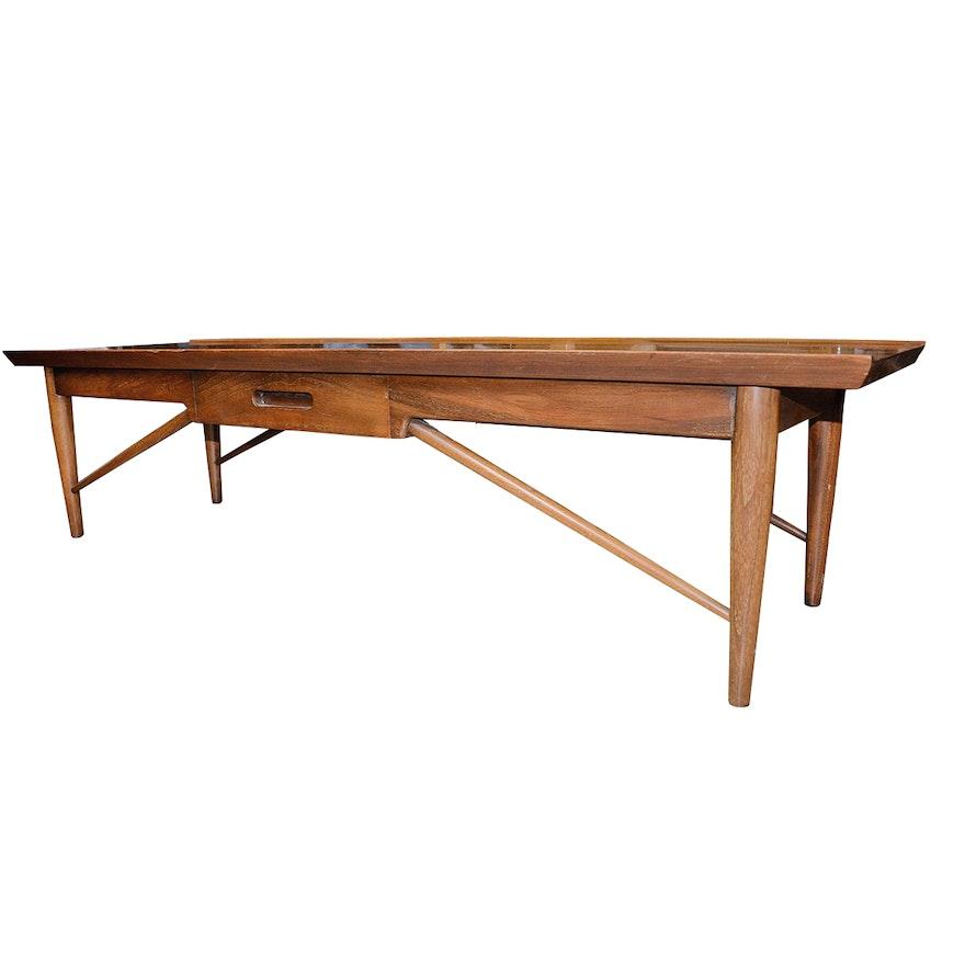 Henredon Oriental Style Coffee Table: Mid Century Modern Coffee Table By Heritage Henredon