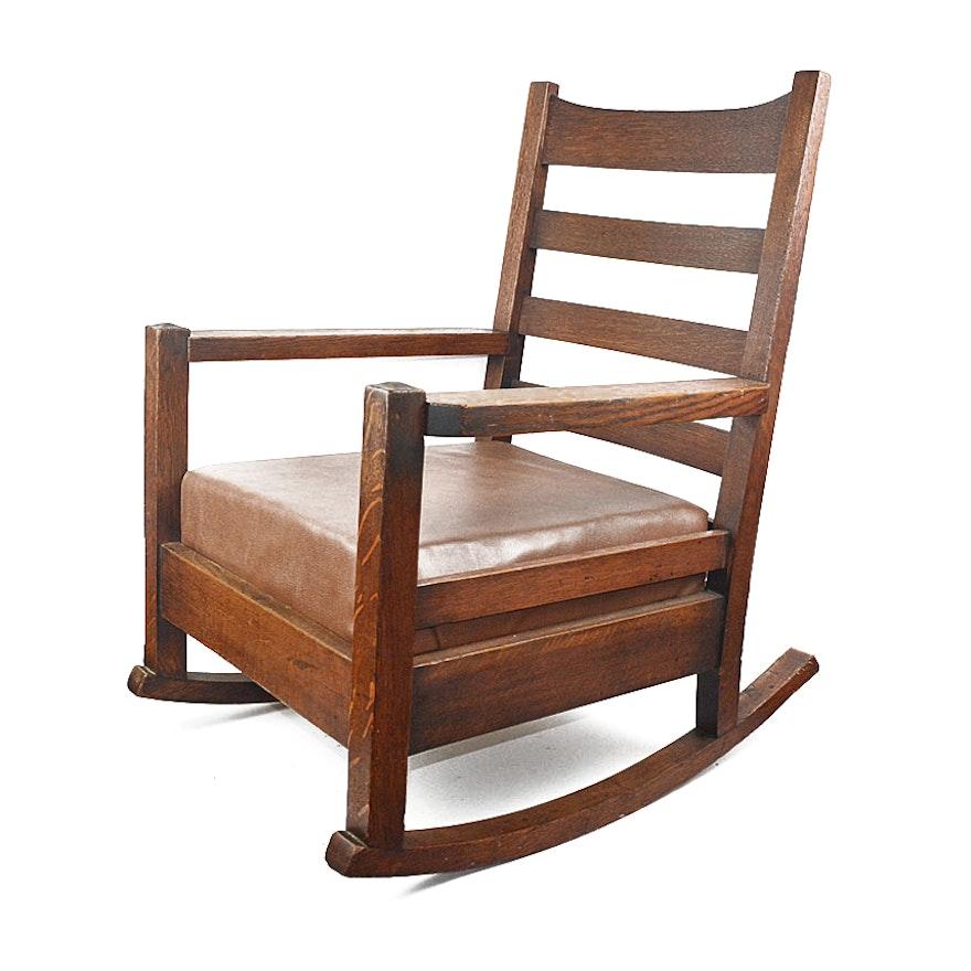 Pleasant Gustav Stickley Rocking Chair Onthecornerstone Fun Painted Chair Ideas Images Onthecornerstoneorg