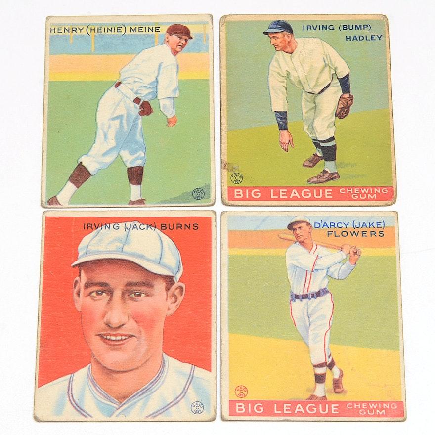 Four 1930s Antique Goudey Gum Baseball Cards
