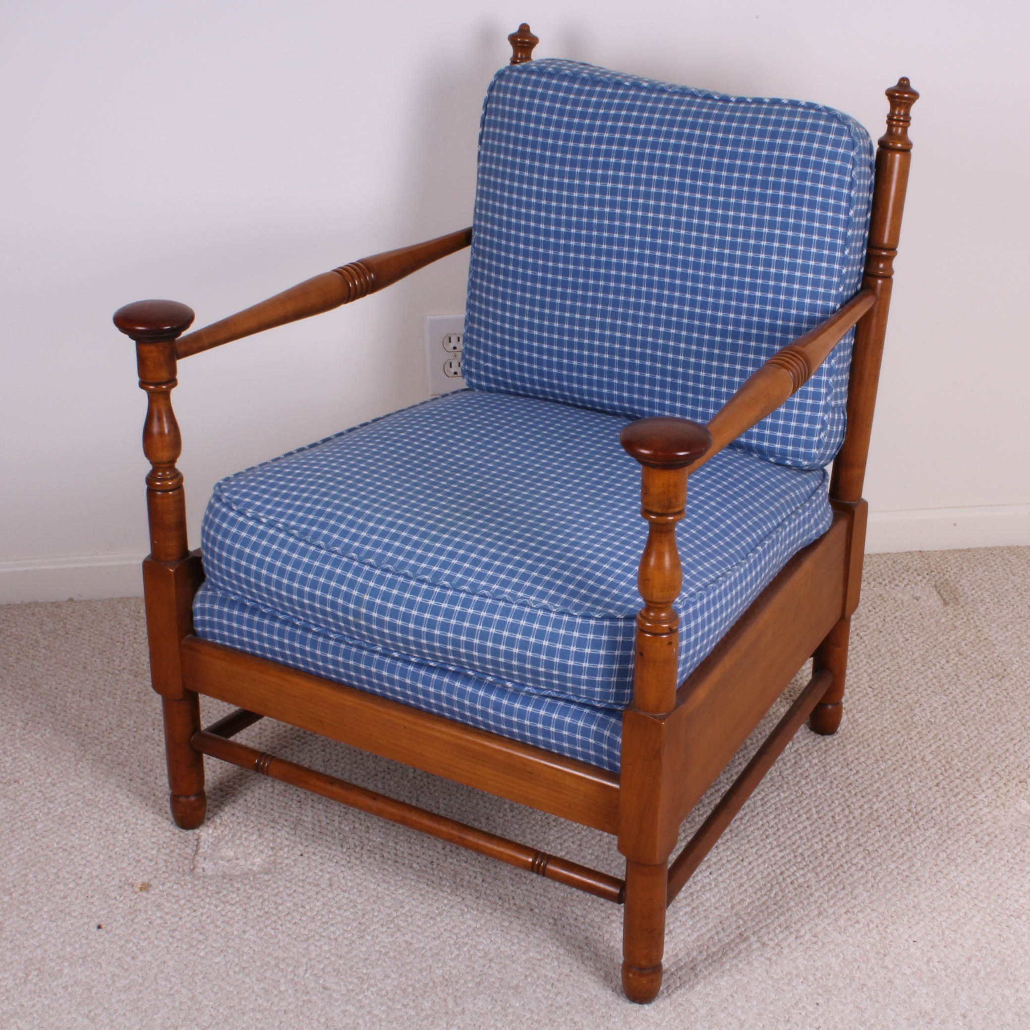 Vintage Wooden Armchair With Cushions ...