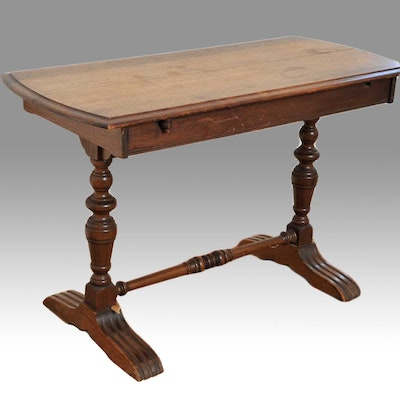 Antique Trestle Console Table