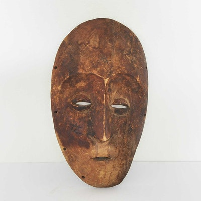 Dan African Carved Wood Tribal Mask
