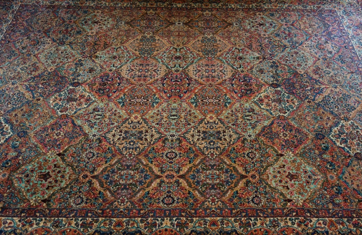 Karastan Multi Color Kirman 717 Wool Rug Ebth