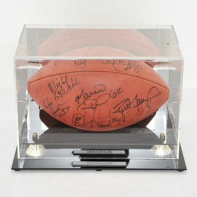 Green Bay Packers Signed Football with Brett Favre