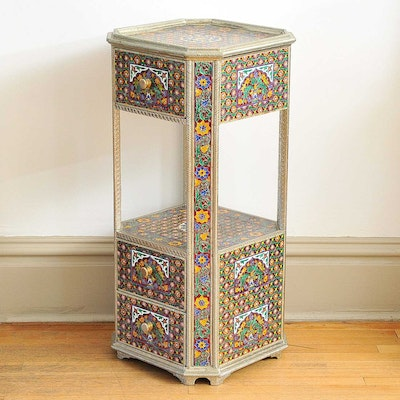 Enameled Side Table