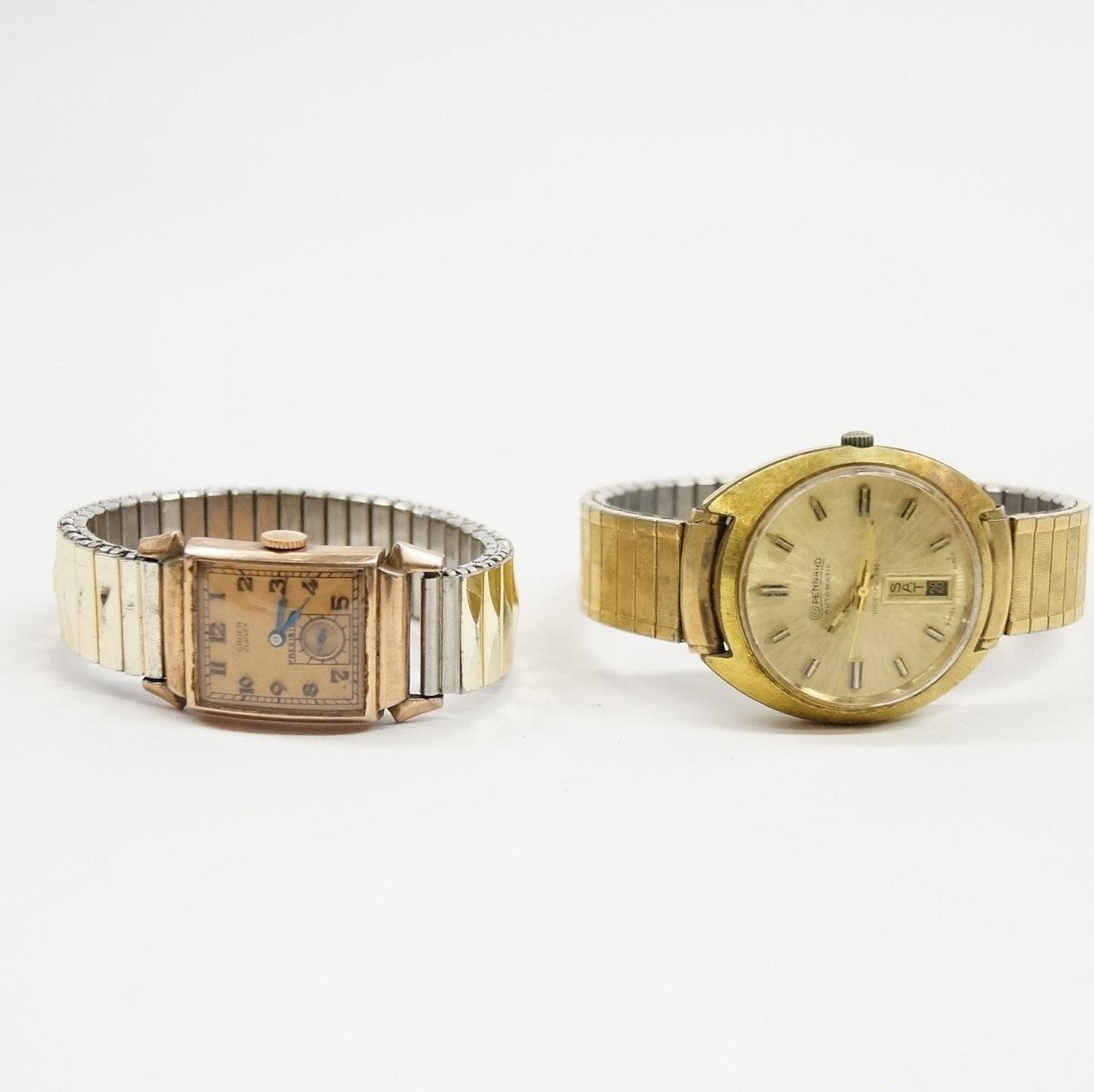 vintage gruen and pennard wristwatches ebth. Black Bedroom Furniture Sets. Home Design Ideas