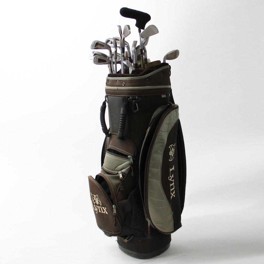 Golf Clubs And Lynx Bag