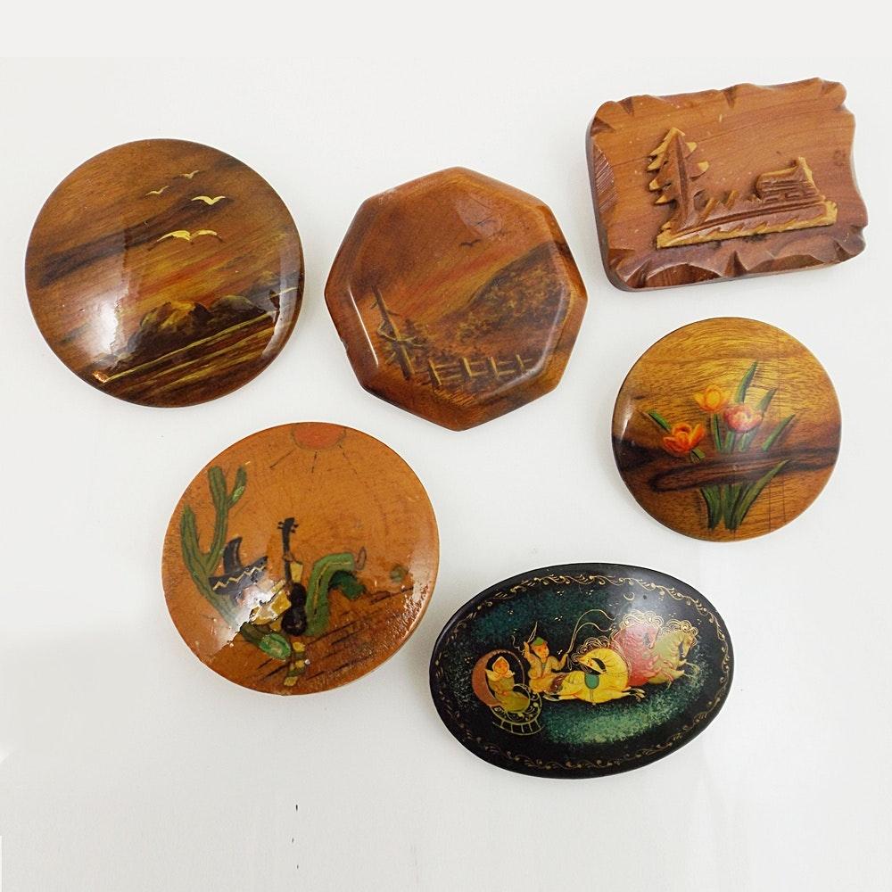 vintage wooden pins ebth