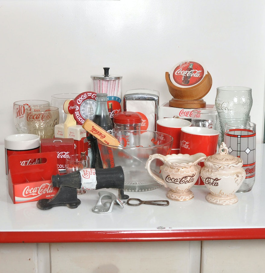 Https Www Ebth Com Items 3459791 Coca Cola Themed Kitchen Accessories