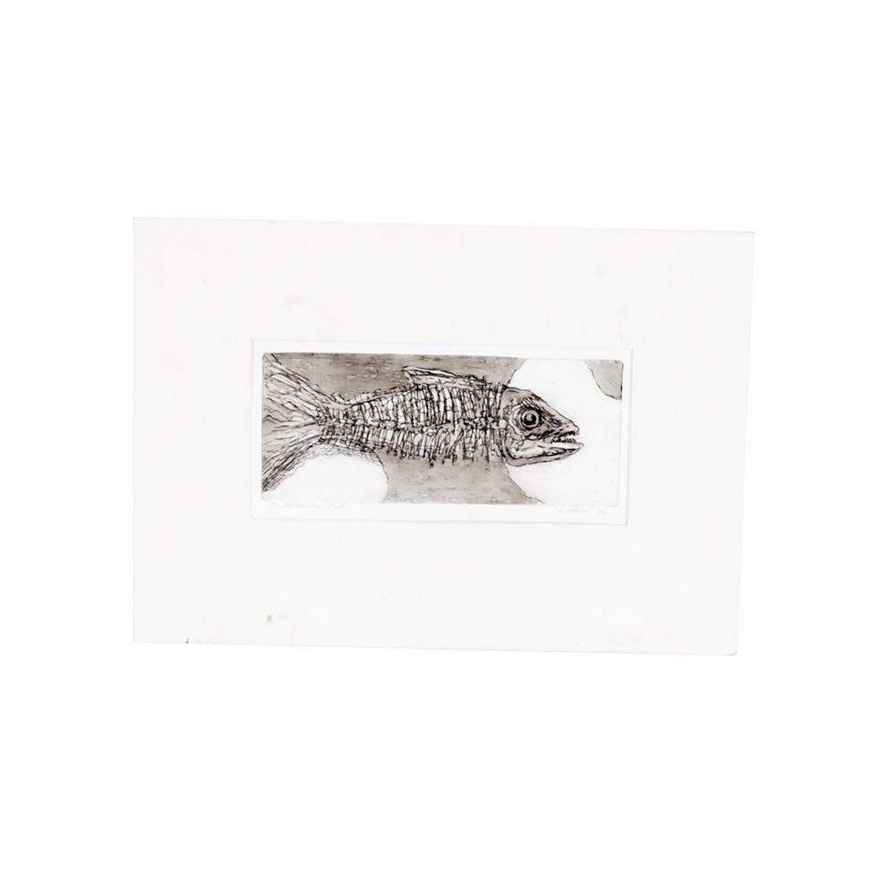 "Eshoo ""Altimira Fish"" Limited Edition Block Print"