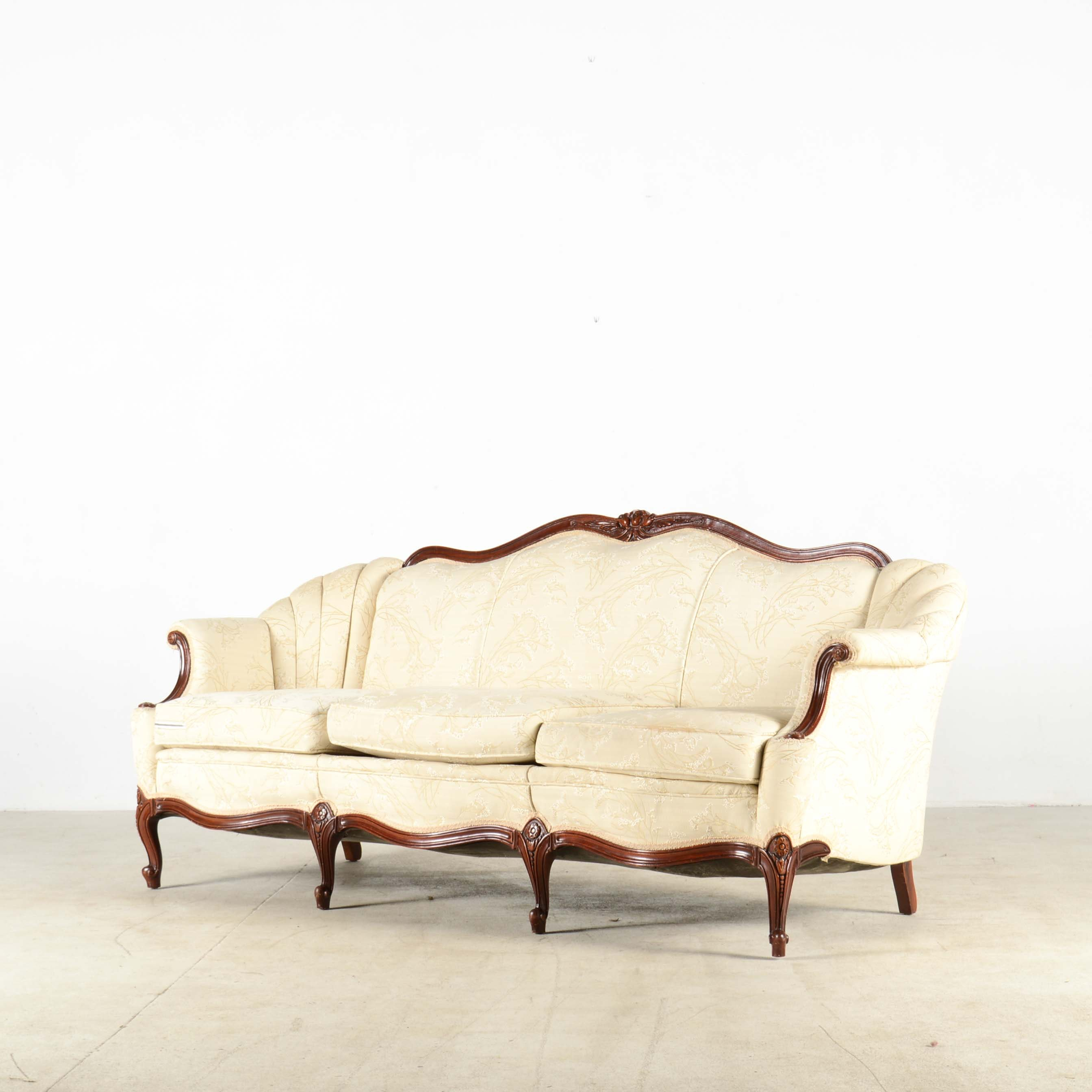 Louis XV Style Camelback Sofa  sc 1 st  Everything But The House : settees and chaises - Sectionals, Sofas & Couches