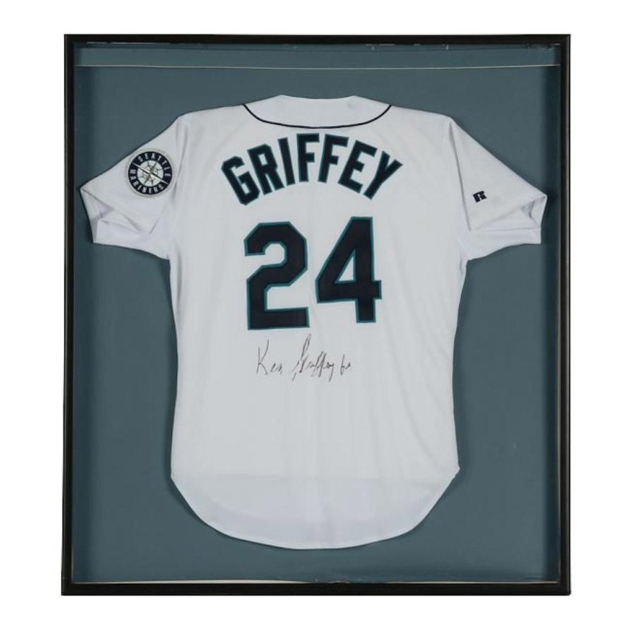 4df46d320 Ken Griffey Jr. Signed Mariners Jersey COA   EBTH