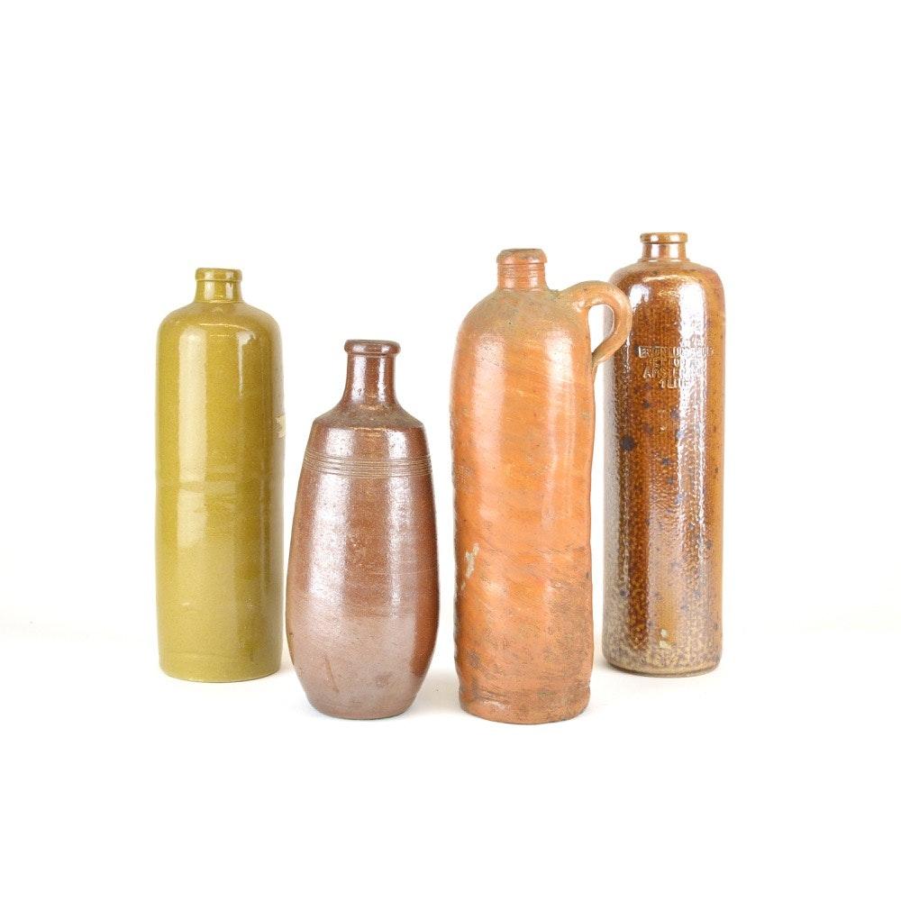 Group of Vintage Stoneware Bottles