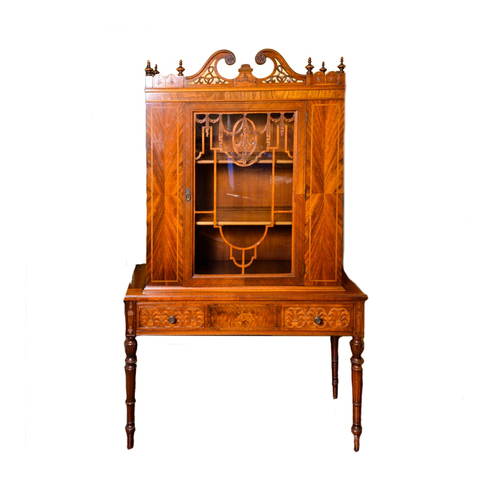 Early 1900 39 S Orinoco Furniture Company Hand Carved Wood Hutch Ebth