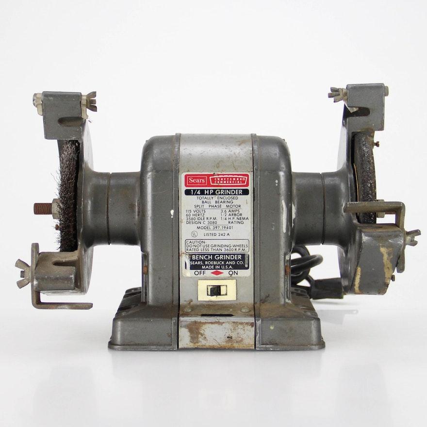 Sears Craftsman 1/4 HP Bench Grinder : EBTH