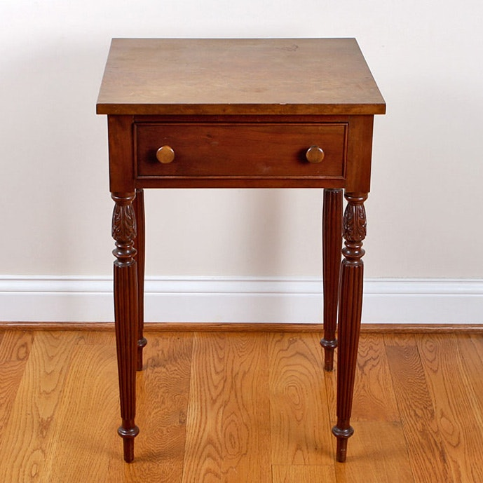 Neoclassical Style Maple Side Table