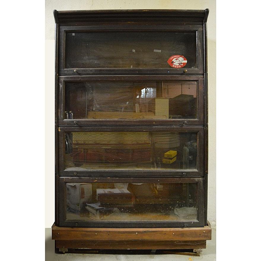 Vintage Lundstrom Barrister Oak Bookcase