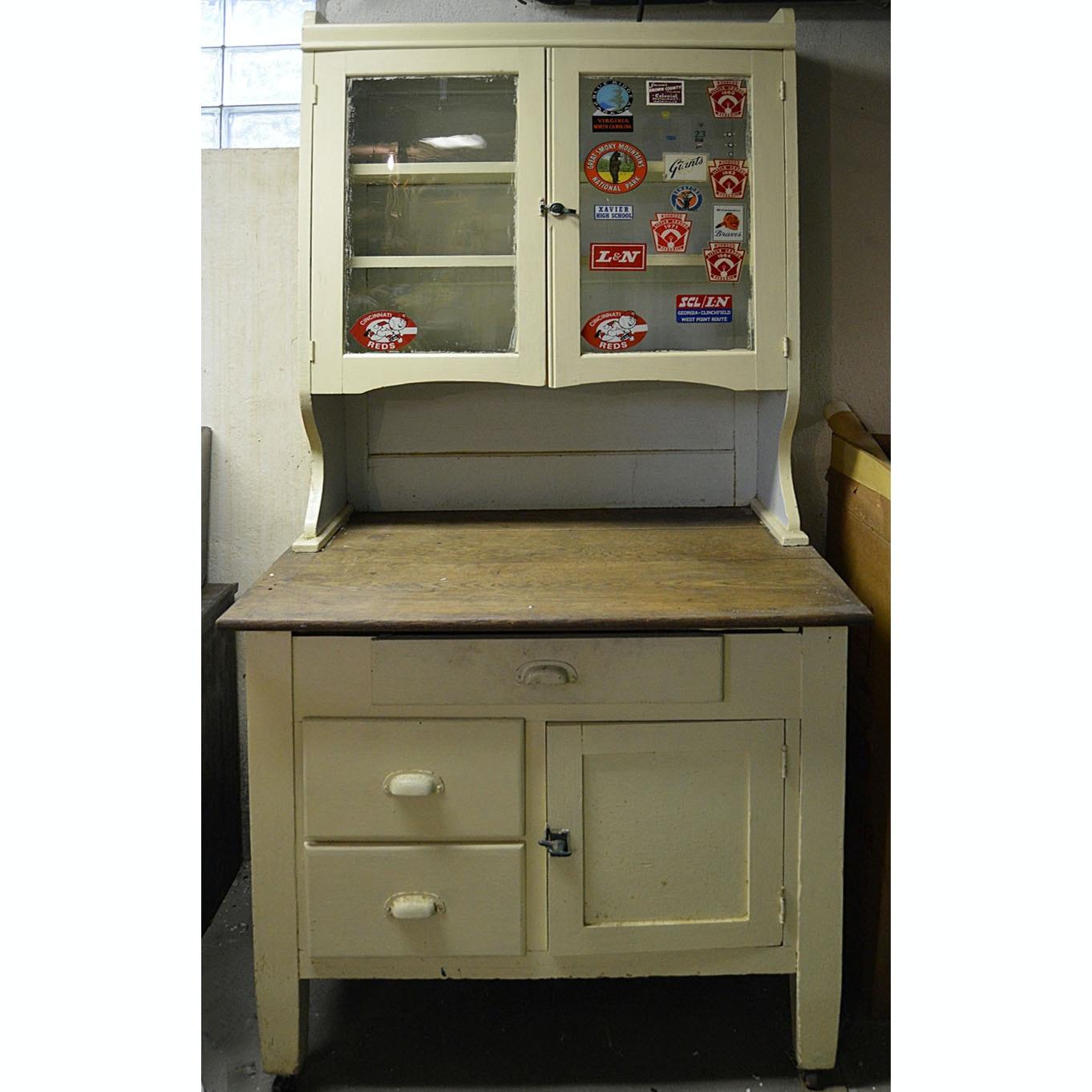 vintage antique hoosier sellers cabinet w original bins by helmers sellers kitchen cabinet parts