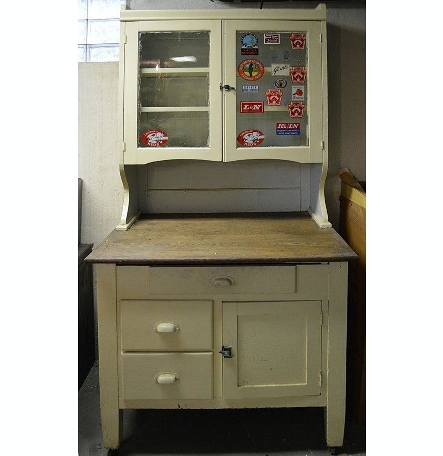 1930s 1940s sellers style kitchen cabinet ebth for 1930s kitchen cabinets for sale