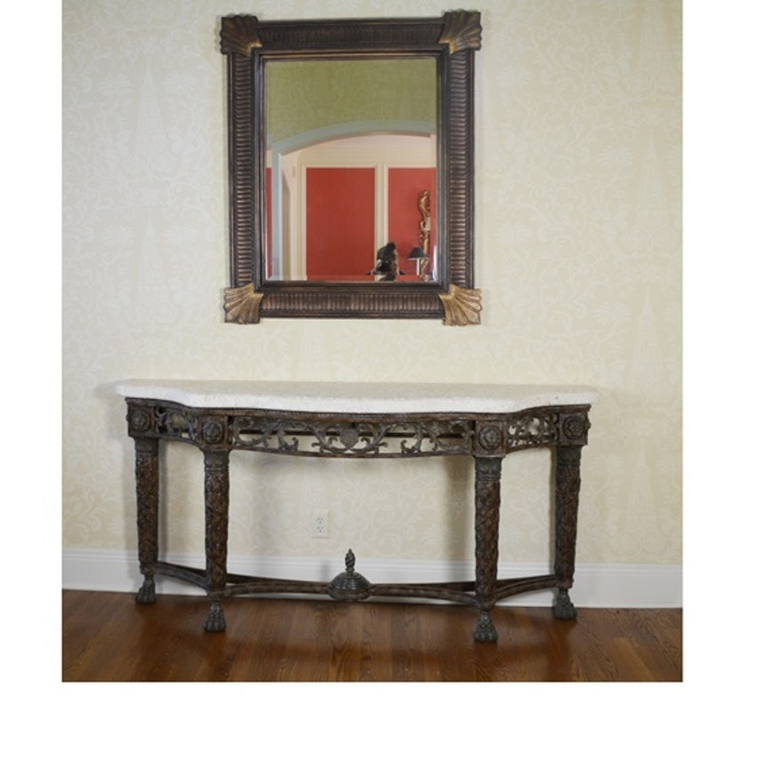 Updated maitland smith brass iron stone entry table and for Table 52 2016
