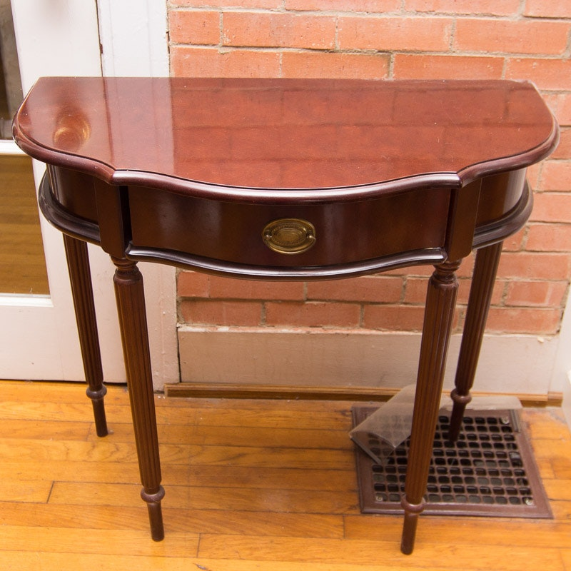 Exceptional The Bombay Company Half Round Side Table ...