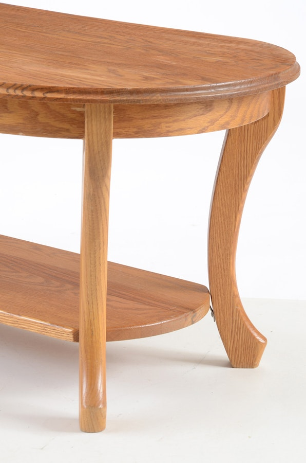 Oak Wood Coffee Table Ebth