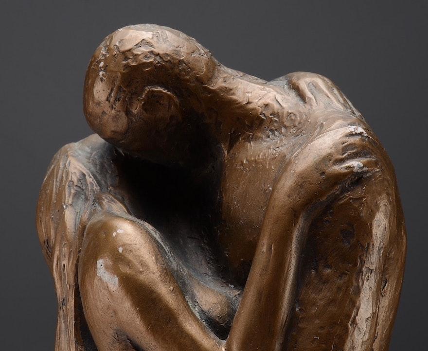 Austin Prod. Inc. Bronze Finish Nude Female Figural Statue